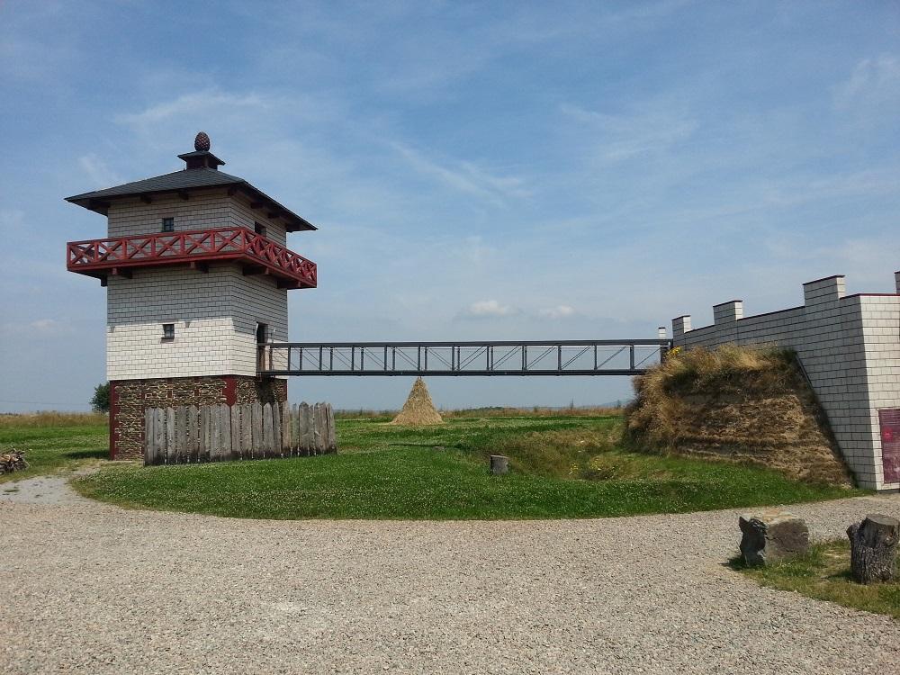 Der Verteidigungsturm am ehemaligen römischen Limes
