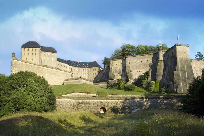 Außenansicht der Festung Königstein
