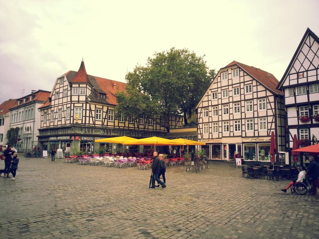 Marktplatz in der Stadt Soest