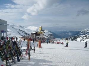 Skihütte in den Alpen